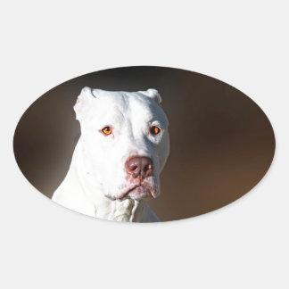 White American Pitbull Terrier Rescue Dog Sticker