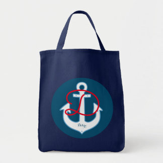 white anchor blue personalized
