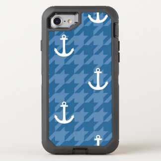 White Anchor Pattern OtterBox Defender iPhone 7 Case