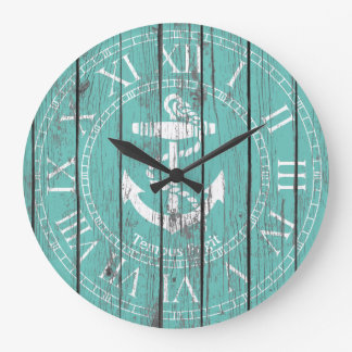 White Anchor Personalize Wall Clock