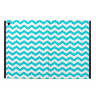 White and Aqua Zig Zag Pattern iPad Air Cover