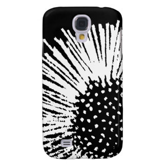 White and Black Abstract Flower Galaxy S4 Case
