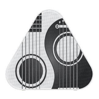 White and Black Acoustic Guitars Yin Yang