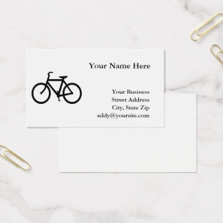 White and Black Bicycle Business Card