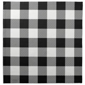 White and Black Buffalo Check - Cloth Napkins