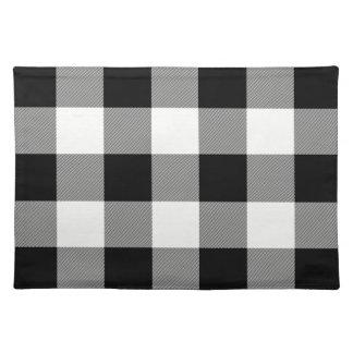 White and Black Buffalo Check - Plaid Place Mat
