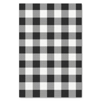 White and Black Buffalo Check Plaid - Tissue Paper