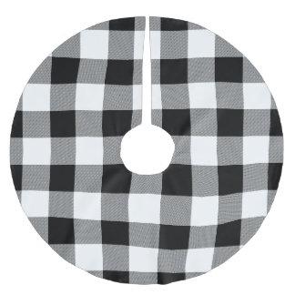 White and Black Buffalo Check - Plaid Tree Skirt