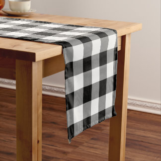 White and Black Buffalo Check - Table Runner