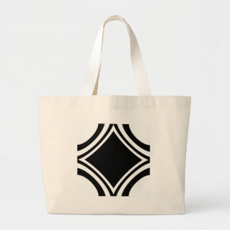 White and Black by Tala Jumbo Tote Bag