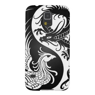 White and Black Dragon Phoenix Yin Yang Galaxy S5 Covers