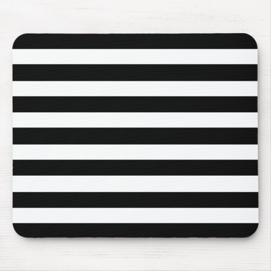 White And Black Elegant Horizontal Stripes Pattern Mouse