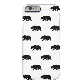 White and Black Grizzly Bear Pattern Barely There iPhone 6 Case