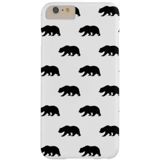 White and Black Grizzly Bear Pattern Barely There iPhone 6 Plus Case