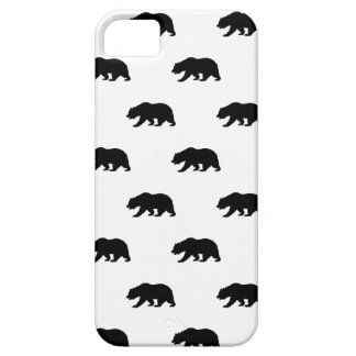 White and Black Grizzly Bear Pattern Case For The iPhone 5