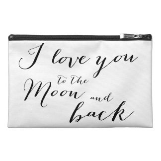 White And Black I Love You Travel Accessory Bag