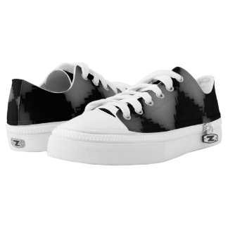 White and Black Jagged Checks Low Tops