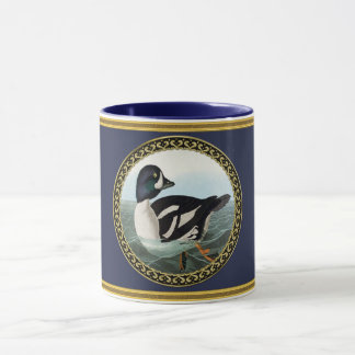 White and Black mallard ducks swimming in water Mug