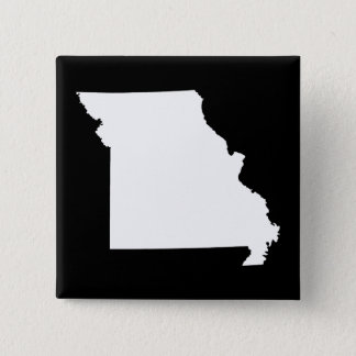 White and Black Missouri 15 Cm Square Badge