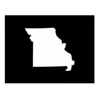 White and Black Missouri Postcard