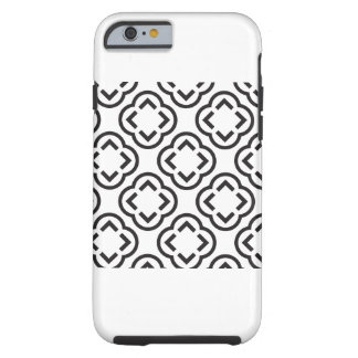 White and Black Pattern Tough iPhone 6 Case