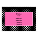 White and Black Polka Dot Pattern Business Cards