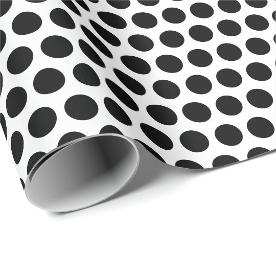 White and Black Polka Dots Wrapping Paper