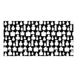 White and Black Scent Bottle Pattern Picture Card