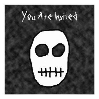 White and Black Skull Primitive Custom Invites