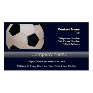 White and Black Soccer Ball Double-Sided Standard Business Cards (Pack Of 100)
