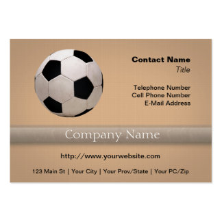 White and Black Soccer Ball Business Card Templates