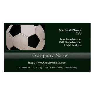 White and Black Soccer Ball Pack Of Standard Business Cards