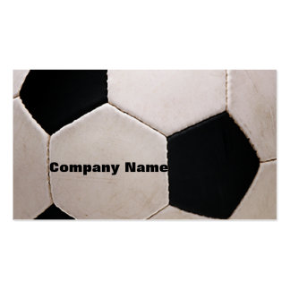 White and Black Soccer Ball Business Cards