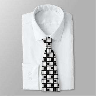 White and Black Squares Tie