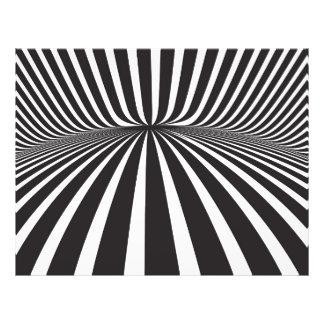 White and black stripes full color flyer