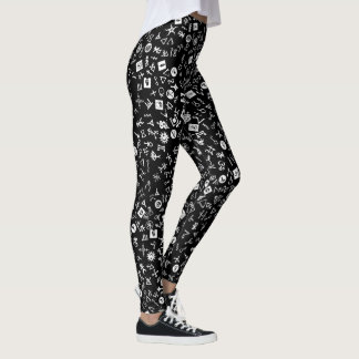 White and Black Symbolicon Leggings