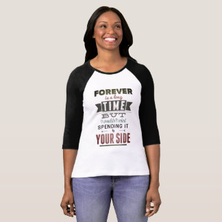 White and Black t-shirt Feminine Forever Vintage