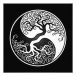 White and Black Tree of Life Yin Yang Custom Invite