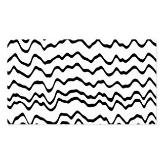 White and Black Waves Pattern. Business Card Template