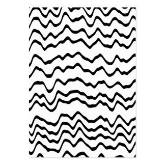 White and Black Waves Pattern. Business Cards