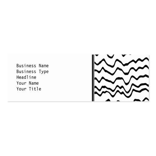 White and Black Waves Pattern. Business Card