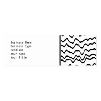 White and Black Waves Pattern. Pack Of Skinny Business Cards