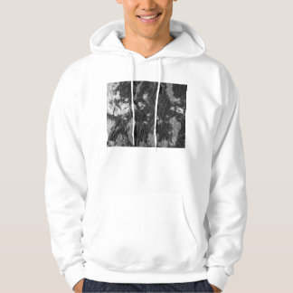 white and black wrinkled paper towel image hoody