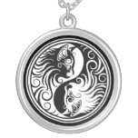 White and Black Yin Yang Cats Jewelry