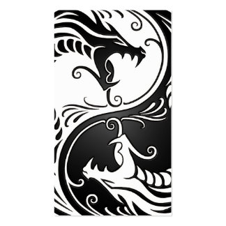 White and Black Yin Yang Dragons Pack Of Standard Business Cards