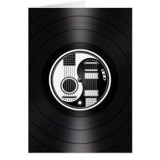 White and Black Yin Yang Guitars Vinyl Graphic Cards