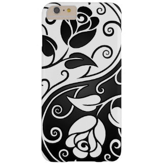 White and Black Yin Yang Roses Barely There iPhone 6 Plus Case