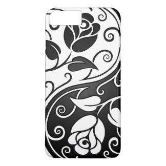 White and Black Yin Yang Roses iPhone 7 Plus Case