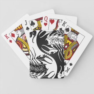 White and Black Yin Yang Scorpions Playing Cards