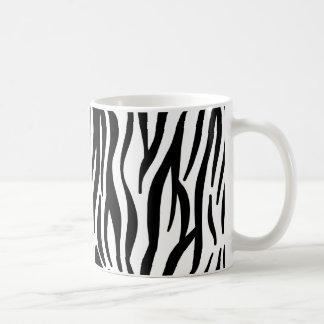 White and Black Zebra Pattern Basic White Mug